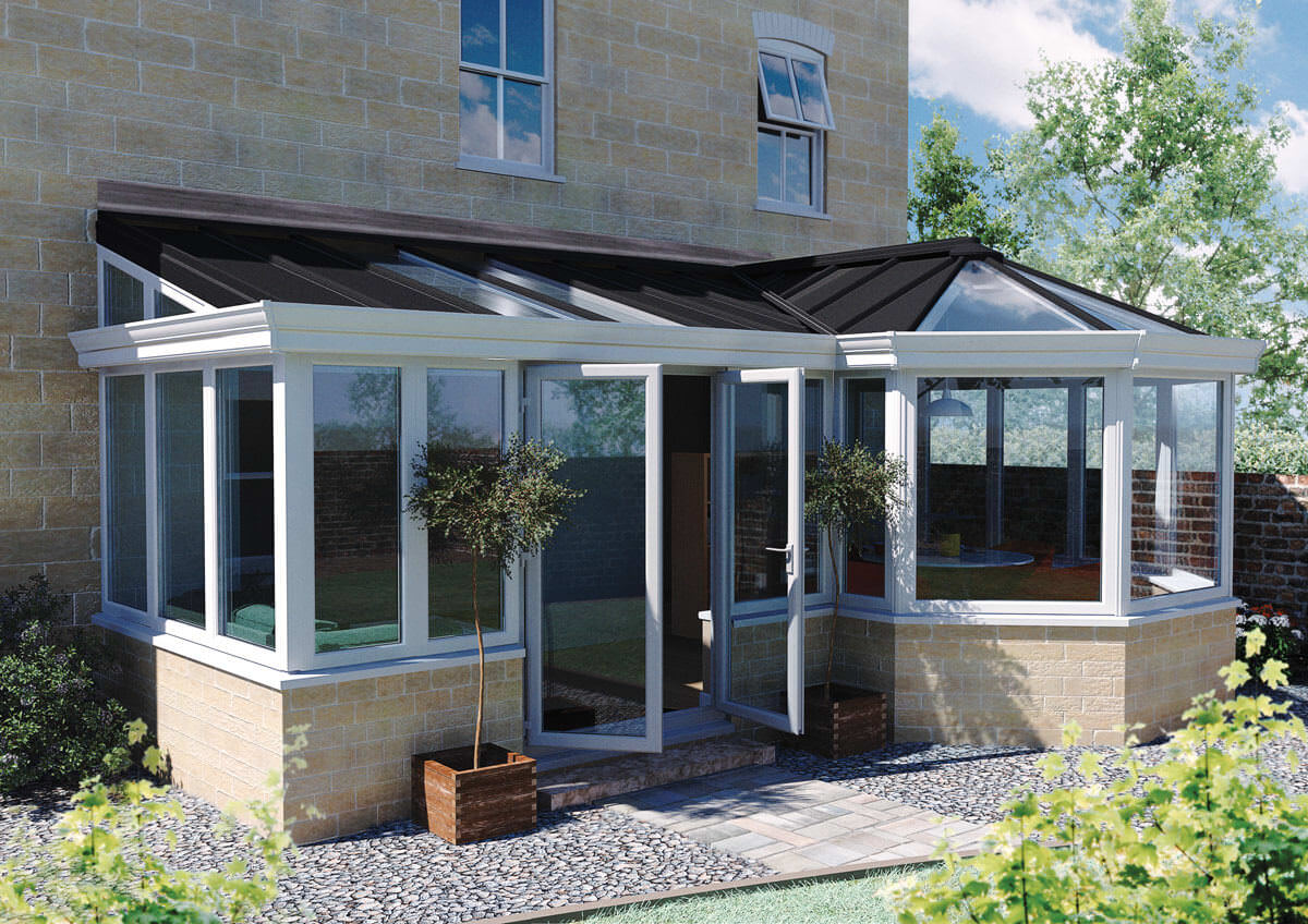 P shaped conservatory reading abbey conservatories for Adding a conservatory